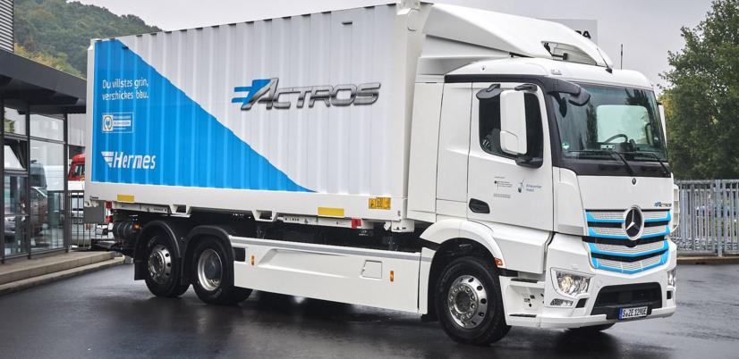kamion Mercedes eActros elektromos autozas e-mobility