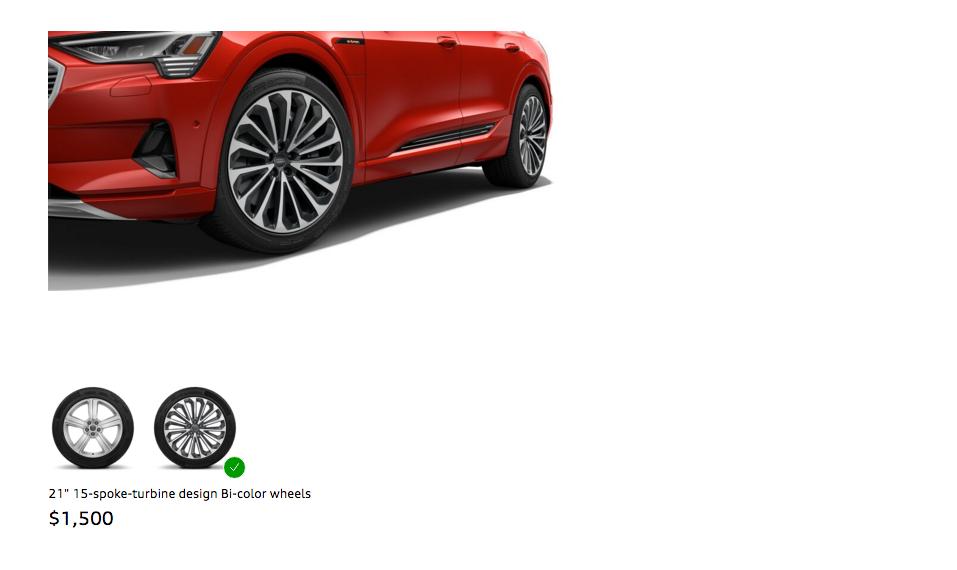 Audi e-tron wheels e-mobility elektromos autozas