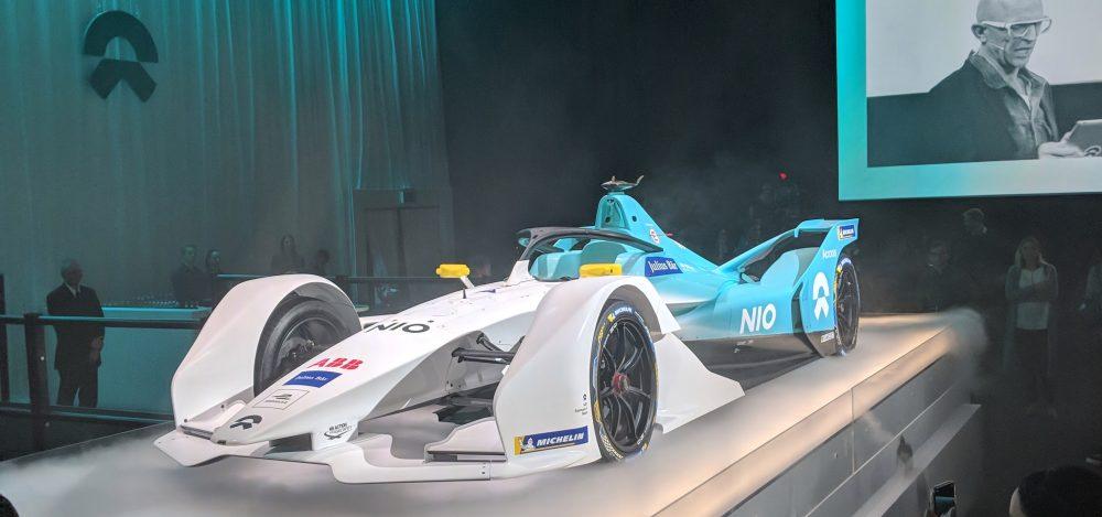 NIO Formula-E versenyautó e-mobility