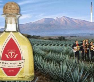 Teslaquila tequila üveg