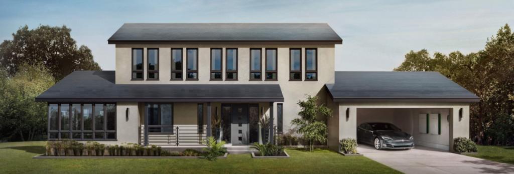Napelemes Tesla ház