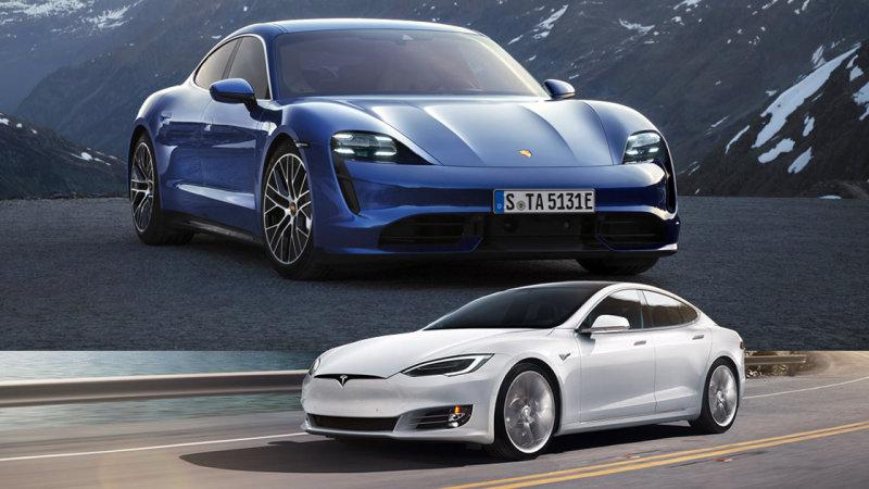 Ringbe száll a Tesla a Taycan-nal