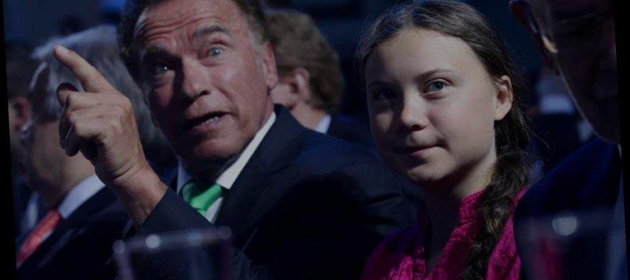 Arnold Schwarzenegger és Greta Thunberg a klímaváltozás ellen