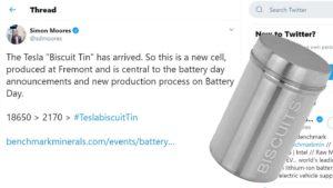 Az eddigi egyetlen hivatalos Tweet a Tesla akkumulátorról