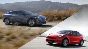 Ford Mustang Mach-E és Tesla Model Y